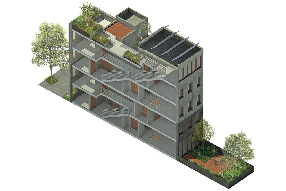 New Townhouse Design Diagram